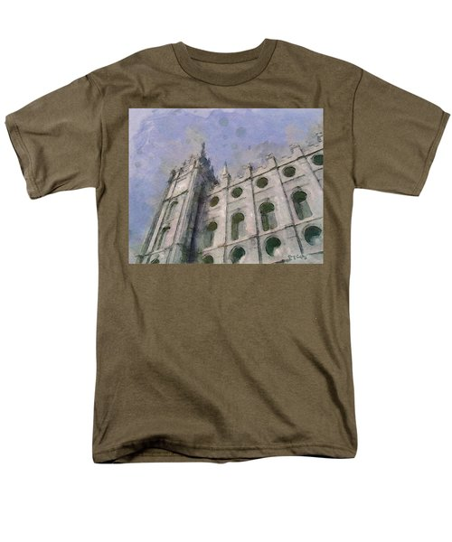 Men's T-Shirt  (Regular Fit) featuring the painting House Of Faith by Greg Collins