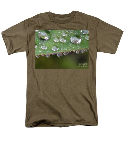 How Many Raindrops Can A Leaf Holds. Men's T-Shirt  (Regular Fit) by Kim Tran