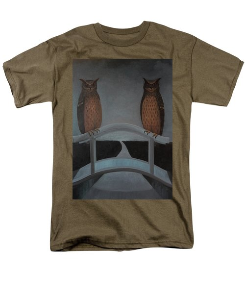 Men's T-Shirt  (Regular Fit) featuring the painting Hu-hu-bro by Tone Aanderaa