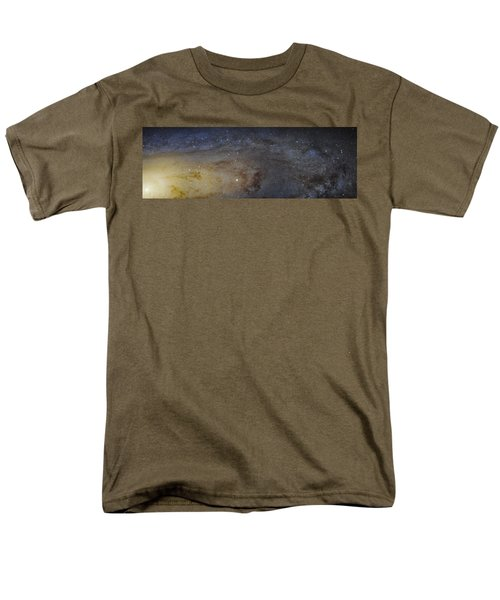 Men's T-Shirt  (Regular Fit) featuring the photograph Hubble's High-definition Panoramic View Of The Andromeda Galaxy by Adam Romanowicz