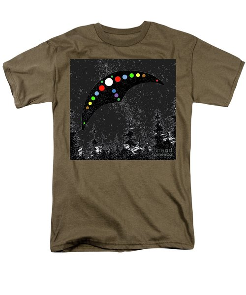 Men's T-Shirt  (Regular Fit) featuring the painting Hudson Valley Ufo by James Williamson