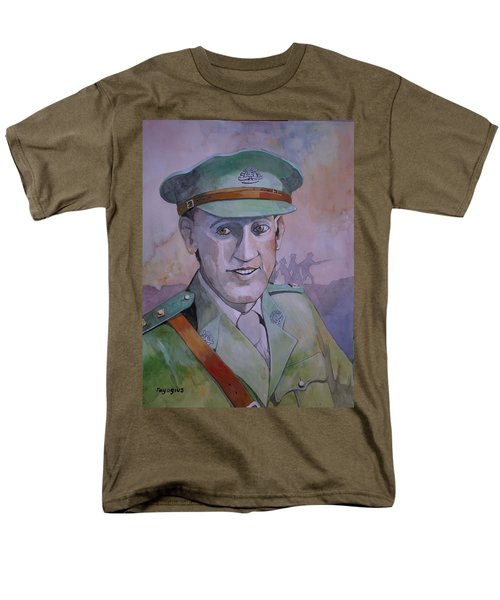 Men's T-Shirt  (Regular Fit) featuring the painting Hugo Throssel Vc by Ray Agius