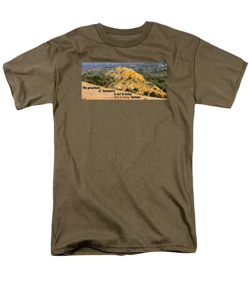Men's T-Shirt  (Regular Fit) featuring the photograph Humanity Reworked by David Norman