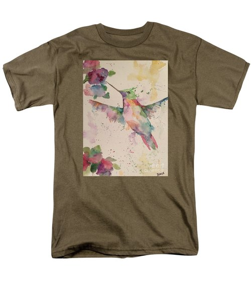 Men's T-Shirt  (Regular Fit) featuring the painting Hummingbird by Denise Tomasura