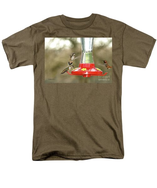 Hummingbird Trio Men's T-Shirt  (Regular Fit) by Shari Nees