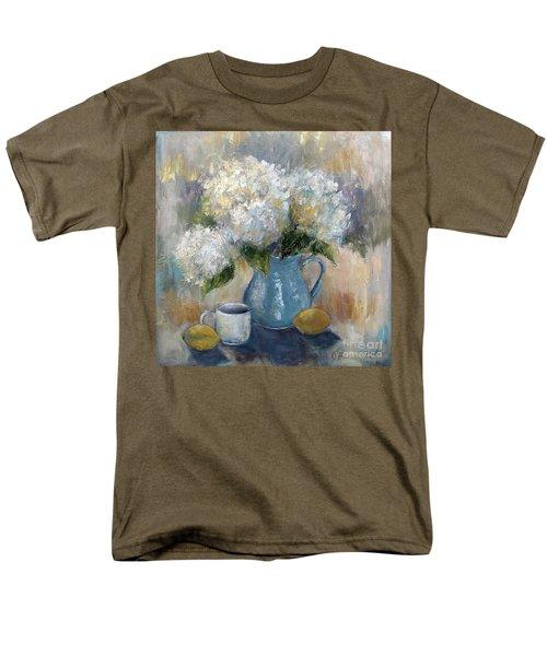 Hydrangea Morning Men's T-Shirt  (Regular Fit) by Jennifer Beaudet