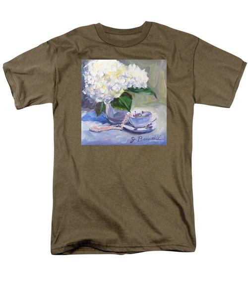 Hydrangeas With Pearls  Men's T-Shirt  (Regular Fit) by Jennifer Beaudet