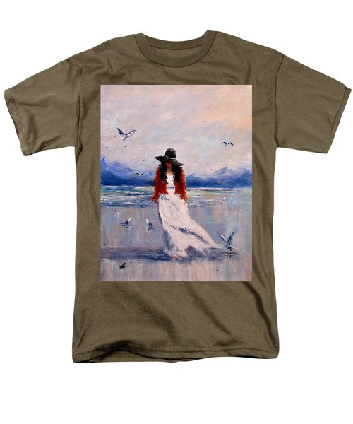 Men's T-Shirt  (Regular Fit) featuring the painting I Am Just A Dreamer.. by Cristina Mihailescu