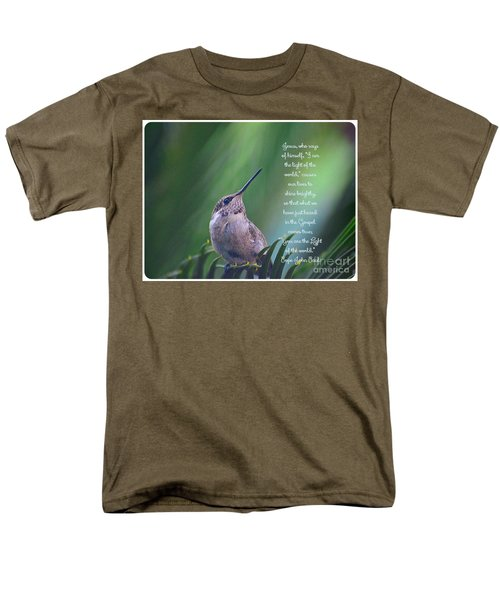 Men's T-Shirt  (Regular Fit) featuring the photograph I Am The Light Of The World by Debby Pueschel