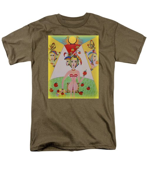 Men's T-Shirt  (Regular Fit) featuring the painting I Don't Like This Apple by Marie Schwarzer