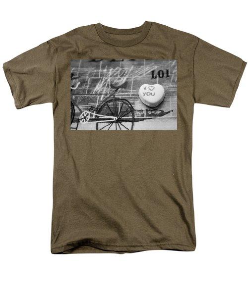 I Heart You Men's T-Shirt  (Regular Fit) by Toni Hopper