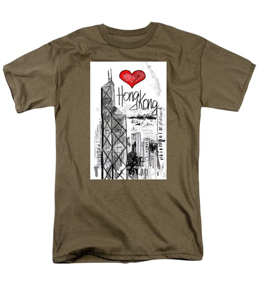 I Love Hong Kong  Men's T-Shirt  (Regular Fit) by Sladjana Lazarevic