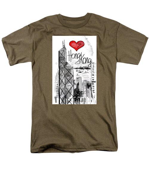 I Love Hong Kong  Men's T-Shirt  (Regular Fit)