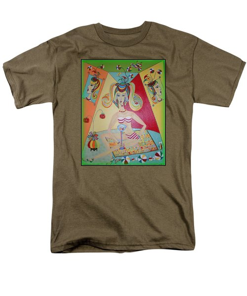 Men's T-Shirt  (Regular Fit) featuring the painting I Love This Cherry by Marie Schwarzer