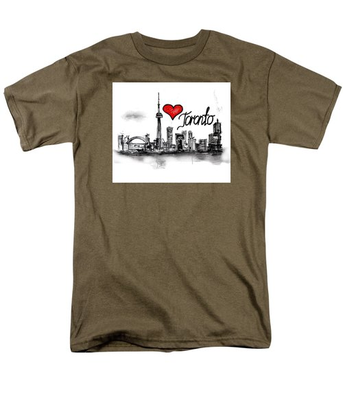 I Love Toronto Men's T-Shirt  (Regular Fit) by Sladjana Lazarevic