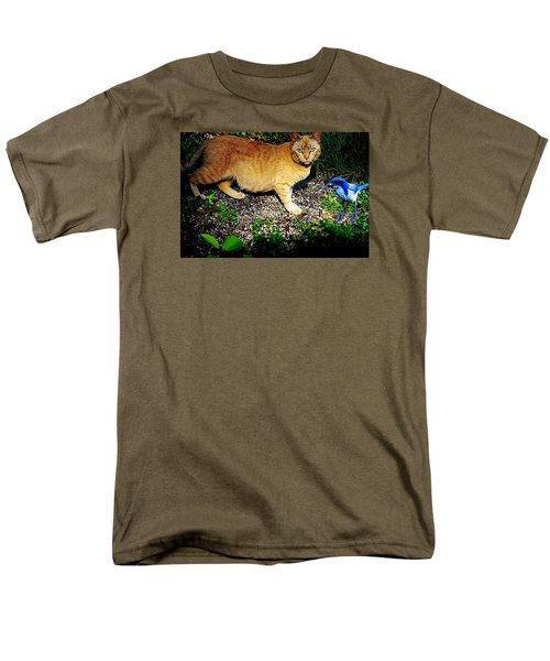 I See A Puddy Kat Men's T-Shirt  (Regular Fit) by Nick Kloepping
