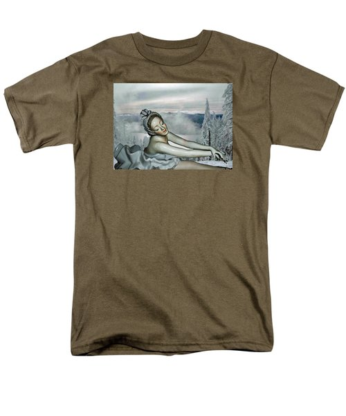 Men's T-Shirt  (Regular Fit) featuring the mixed media Ice Princess by Lyric Lucas