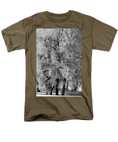 Men's T-Shirt  (Regular Fit) featuring the photograph Iced Cottonwoods by Colleen Coccia