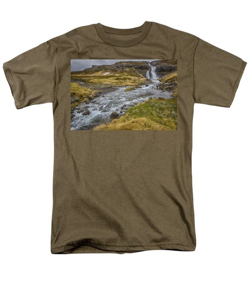 Iceland Fjord Men's T-Shirt  (Regular Fit) by Kathy Adams Clark