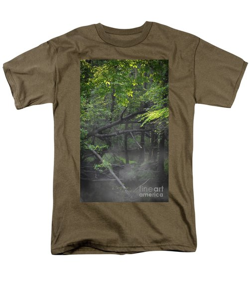 Men's T-Shirt  (Regular Fit) featuring the photograph If A Tree Falls In The Woods by Skip Willits