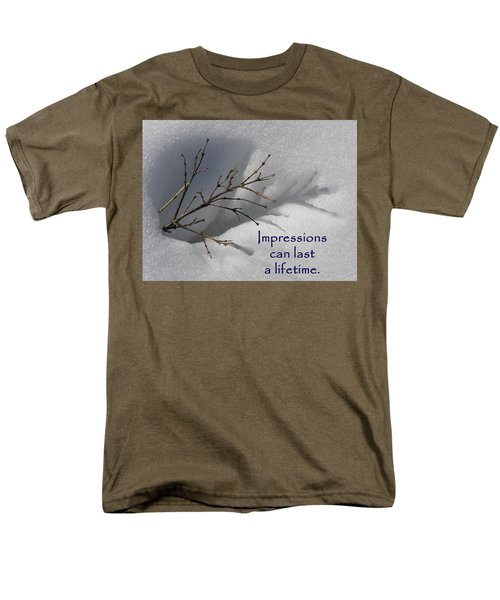 Impressions Can Last A Lifetime Men's T-Shirt  (Regular Fit) by DeeLon Merritt