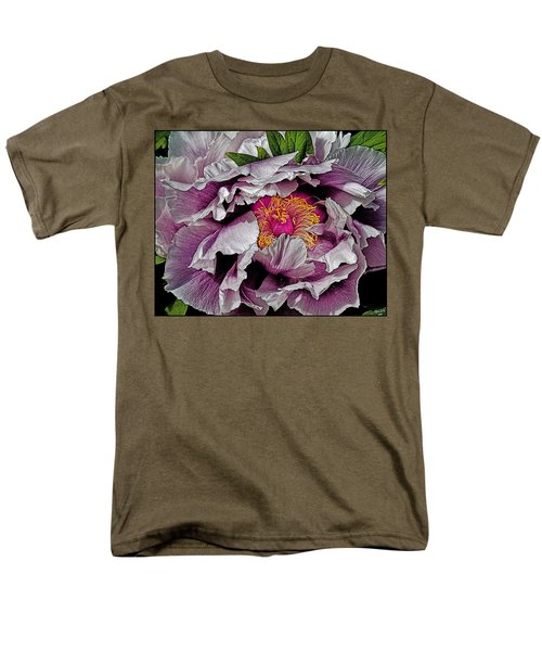In The Eye Of The Peony Men's T-Shirt  (Regular Fit) by Chris Lord