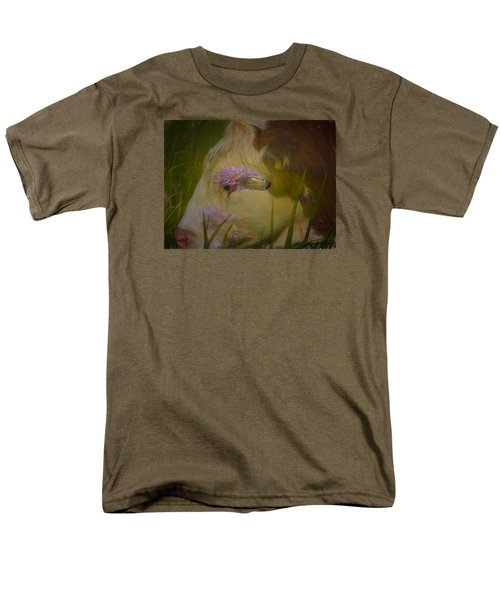 Men's T-Shirt  (Regular Fit) featuring the photograph In The Head Of A Cow by Leif Sohlman