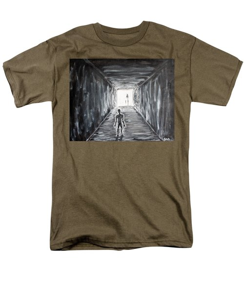 Men's T-Shirt  (Regular Fit) featuring the painting In The Light Of The Living by Antonio Romero