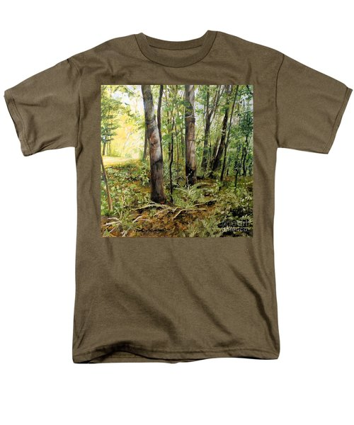 In The Shaded Forest  Men's T-Shirt  (Regular Fit) by Laurie Rohner