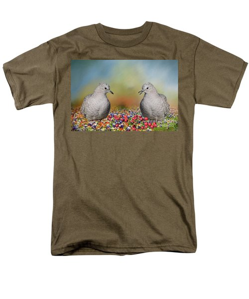 Men's T-Shirt  (Regular Fit) featuring the photograph Inca Doves by Bonnie Barry