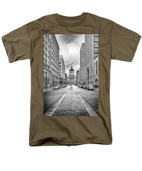 Indiana State Capitol Building Men's T-Shirt  (Regular Fit) by Howard Salmon