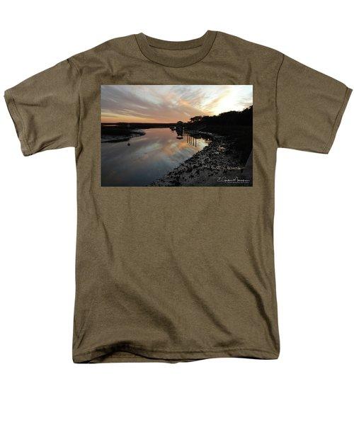 Inlet Sunset Men's T-Shirt  (Regular Fit) by Gordon Mooneyhan