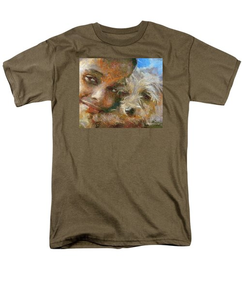 Men's T-Shirt  (Regular Fit) featuring the painting Innocent Love by Dragica  Micki Fortuna