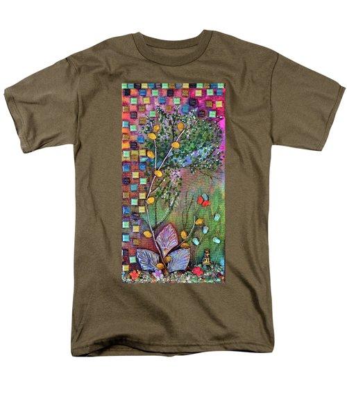 Inside The Garden Wall Men's T-Shirt  (Regular Fit) by Donna Blackhall