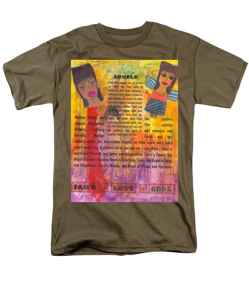 Men's T-Shirt  (Regular Fit) featuring the mixed media Inspiration Angels II by Angela L Walker
