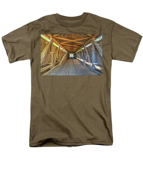 Men's T-Shirt  (Regular Fit) featuring the photograph Interior View - Conley's Ford Covered Bridgee by Harold Rau