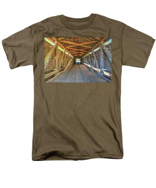 Interior View - Conley's Ford Covered Bridgee Men's T-Shirt  (Regular Fit) by Harold Rau