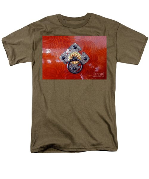 Intricate Bronze Fittings On A Drum Men's T-Shirt  (Regular Fit) by Yali Shi