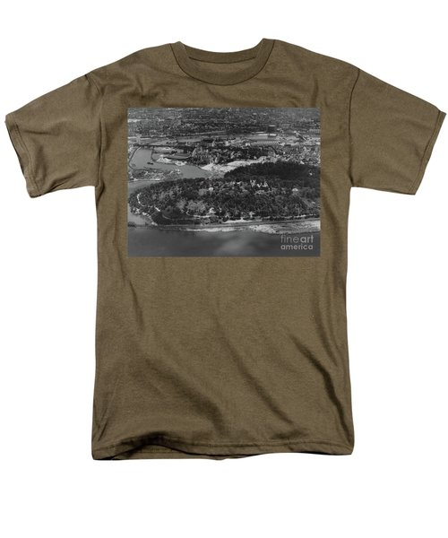 Men's T-Shirt  (Regular Fit) featuring the photograph Inwood Hill Park Aerial, 1935 by Cole Thompson