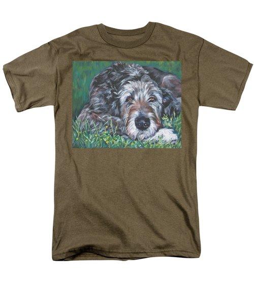 Irish Wolfhound Men's T-Shirt  (Regular Fit) by Lee Ann Shepard
