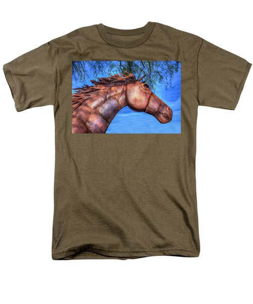 Men's T-Shirt  (Regular Fit) featuring the photograph Iron Horse by Paul Wear