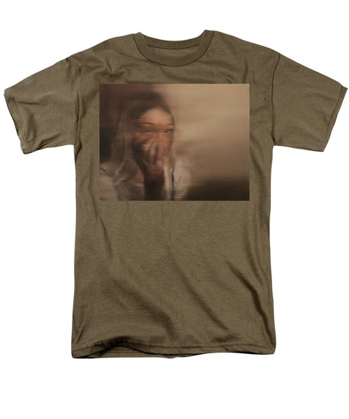 Men's T-Shirt  (Regular Fit) featuring the painting Is Everyone Looking? by Cherise Foster