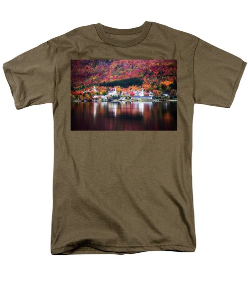 Island Pond Vermont Men's T-Shirt  (Regular Fit) by Sherman Perry