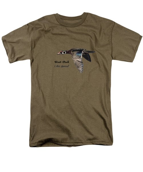 Men's T-Shirt  (Regular Fit) featuring the photograph Isolated Wood Duck 2017-1 by Thomas Young