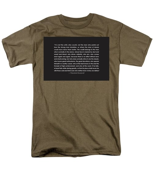 It Is Not The Critic Who Counts Men's T-Shirt  (Regular Fit)