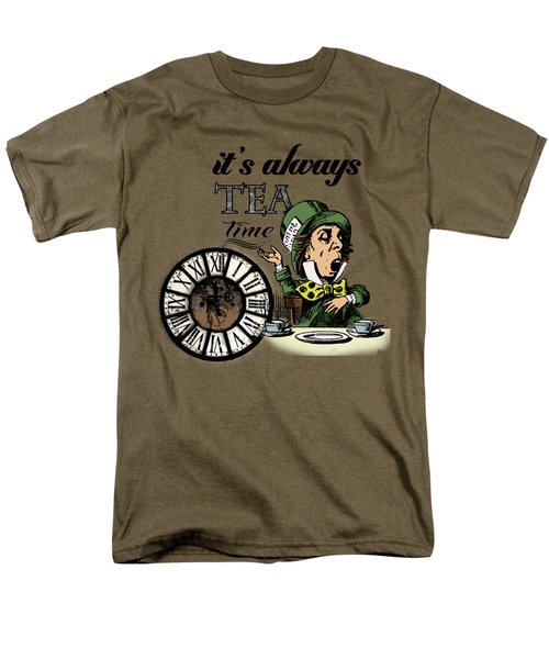 It's Always Tea Time Mad Hatter Dictionary Art Men's T-Shirt  (Regular Fit) by Jacob Kuch