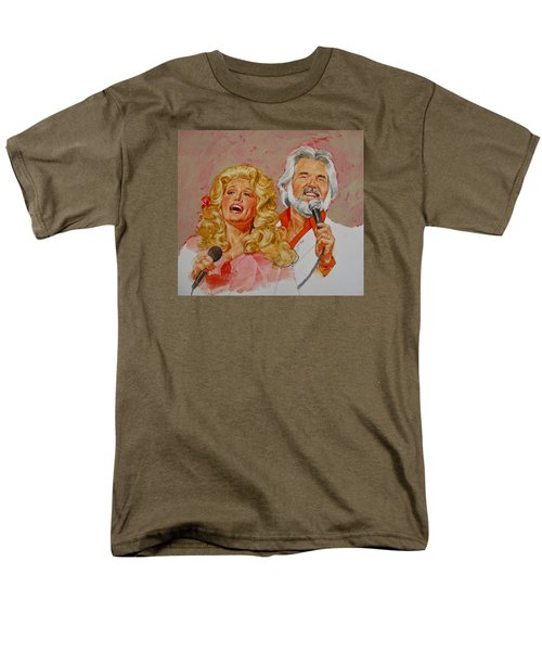 Its Country - 8  Dolly Parton Kenny Rogers Men's T-Shirt  (Regular Fit) by Cliff Spohn