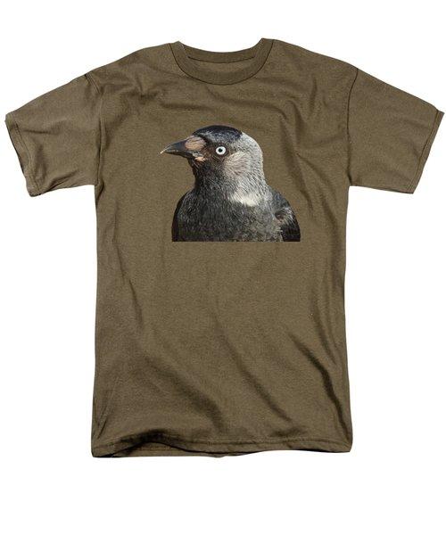 Jackdaw Corvus Monedula Bird Portrait Vector Men's T-Shirt  (Regular Fit)