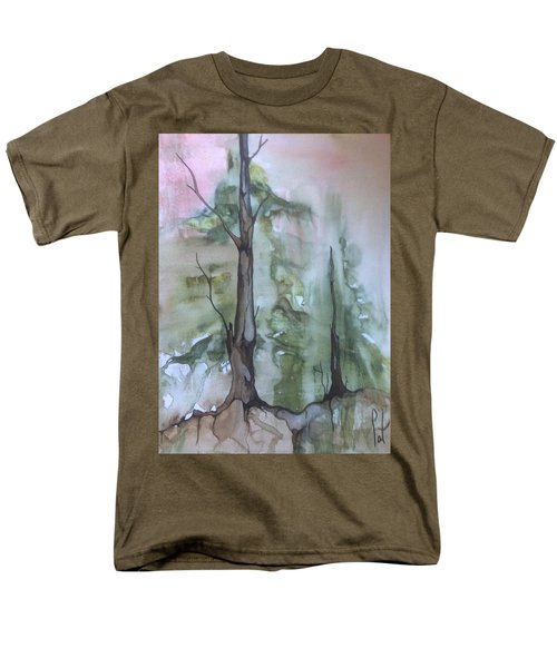 Men's T-Shirt  (Regular Fit) featuring the painting Jackfish Lake by Pat Purdy
