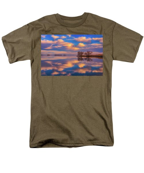 Men's T-Shirt  (Regular Fit) featuring the photograph Jackson Lake Sunset by Darren White